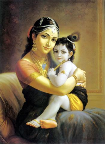 Lord Krishna with Ma Yashoda